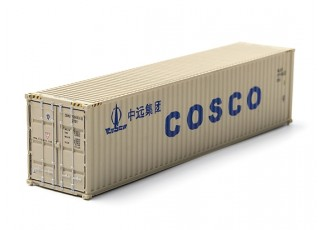 HO Scale 40ft Shipping Container (COSCO) rear view