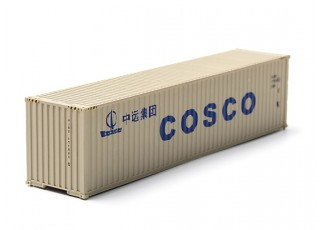 HO Scale 40ft Shipping Container (COSCO)front view