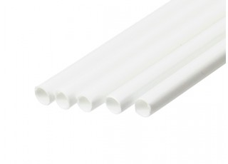 ABS Round Tube 4.0mm OD x 500mm White (Qty 5)