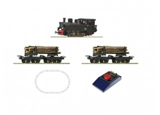 Roco HOe Analogue Starter Train Set with Steam Locomotive and Timber Wagons