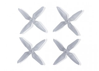Team RaceKraft 3041 Q4CS 4 Blade Props - Clear
