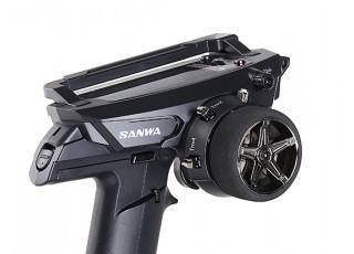 Sanwa MT-44 4Ch 2.4GHz Surface Radio System w/RX-482 Receiver - rear view