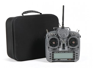 FrSky 2.4GHz ACCST TARANIS X9D PLUS Special Edition (M2) (International) (Carbon Fiber) (US Plug) box