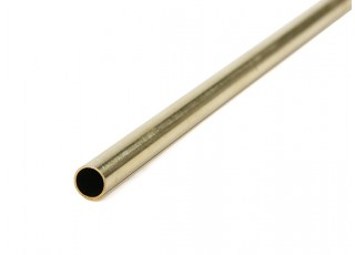 K&S Precision Metals Brass Round Tube 7mm OD x  0.45mm x 1000mm (Qty 1)