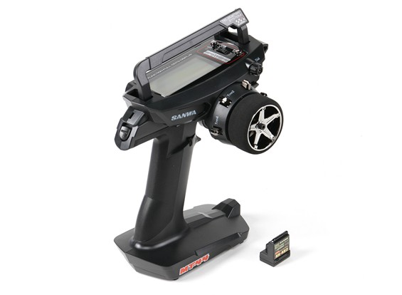 Sanwa MT-44 4Ch. 2.4GHz Radio System With RX-482 Receiver- Front