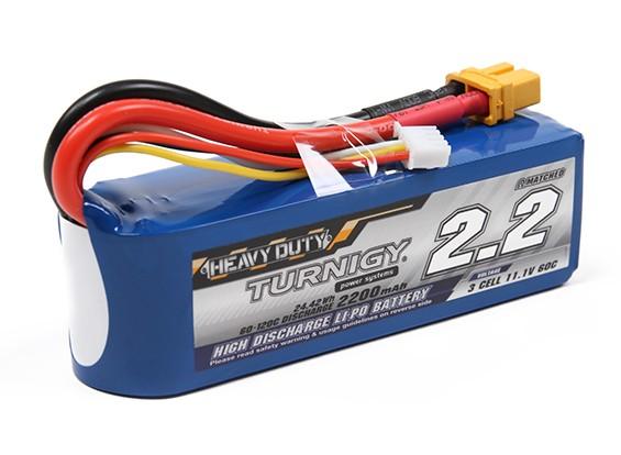 Turnigy Heavy Duty 2200mAh 3S 60C Lipo Pack w/XT60U Connector