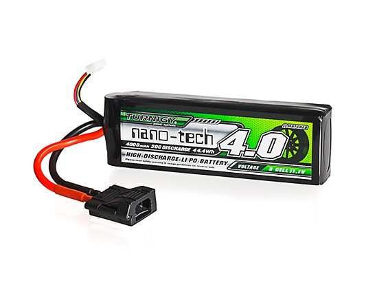 Turnigy nano-tech 4000mAh 3S 30C LiPo Pack w/ Flat Connector