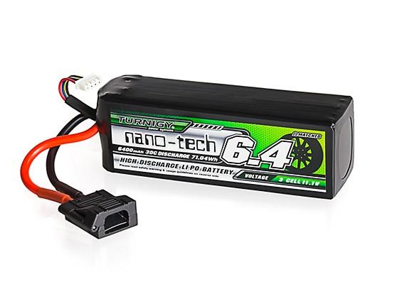 Turnigy nano-tech 6400mAh 3S 30C LiPo Battery w/Flat Connector