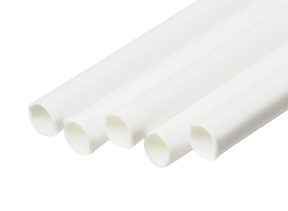 ABS Round Tube 5.0mm OD x 500mm White (Qty 5)