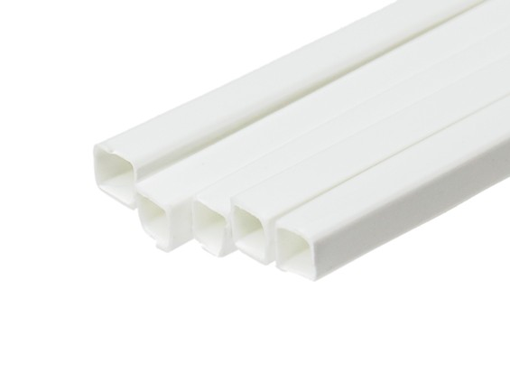 ABS Square Tube 5.0mm x 5.0mm x 500mm White (Qty 5)