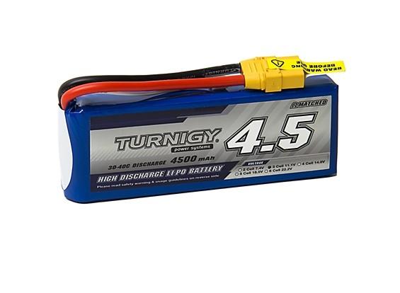 Turnigy 4500mAh 3S 30C Lipo Pack w/XT-90