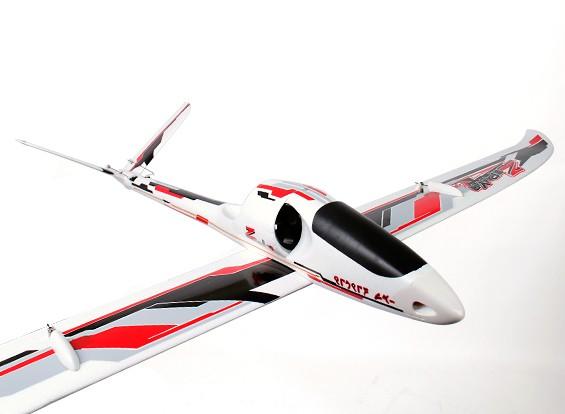 Durafly ™ Zephyr V-70 High Performance 70 millimetri FES V-Tail Glider 1.533 millimetri (PNF)