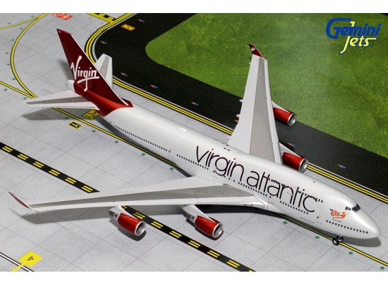 Gemini Jets Virgin Atlantic Airways Boeing B747-400 G-VLXG 1:200 Diecast Model G2VIR608