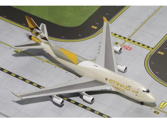 Gemini Jets Etihad Airways Cargo Boeing 747-400F (New Livery) N476MC 1:400 Diecast Model GJETD1477