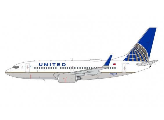 Gemini Jets United Airlines B737-700(W) N12754 1:400 Diecast Model GJUAL1601