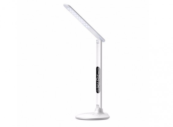 LED Table Reading Smart Lamp With Clock Alarm Temp Adjustable Color & Brightness