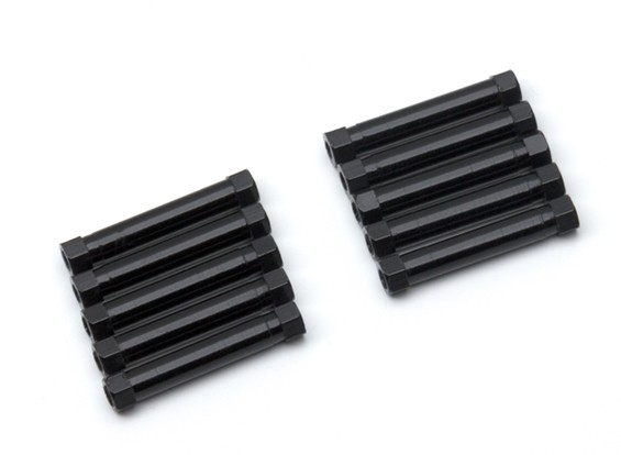 3x29mm alu. peso leggero basamento rotondo (nero)