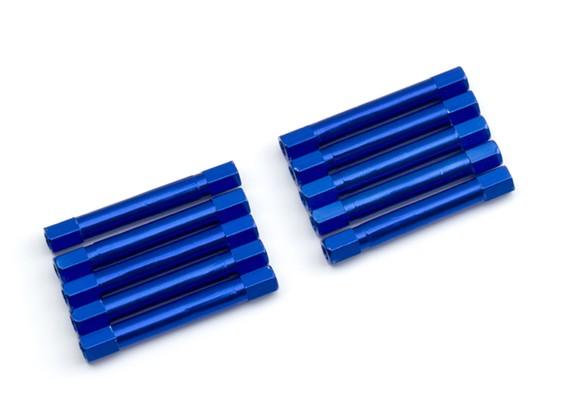 3x37mm alu. peso leggero supporto rotondo (blu)