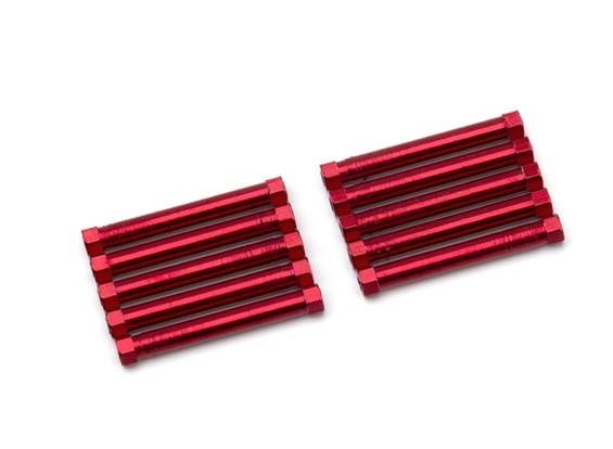 3x38mm alu. peso leggero basamento rotondo (rosso)
