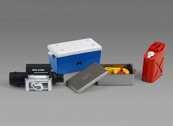 Scale Accessori # 1 (abbassamento della temperatura con la copertura / verricello Box con la cinghia di traino e di copertura / Gas Can / HD Winch)