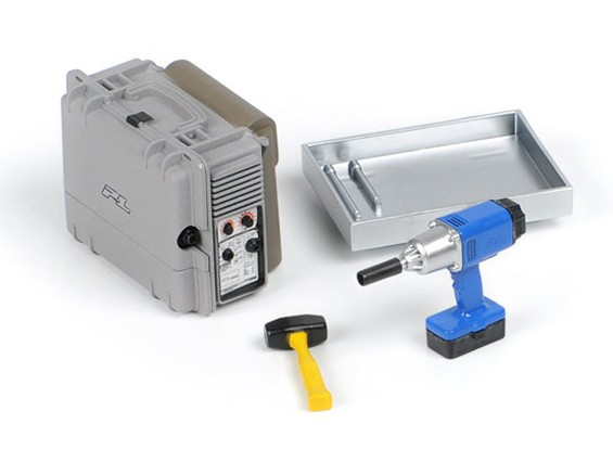 Scale Accessori # 5 (Saldatore portatile / cordless pistola Impact / Sledge Hammer / Tool Box Tray)