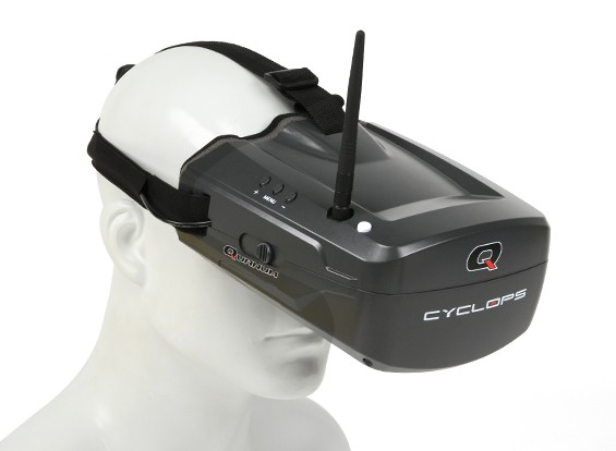 Quanum Ciclope FPV Goggle w / monitor integrato e ricevitore
