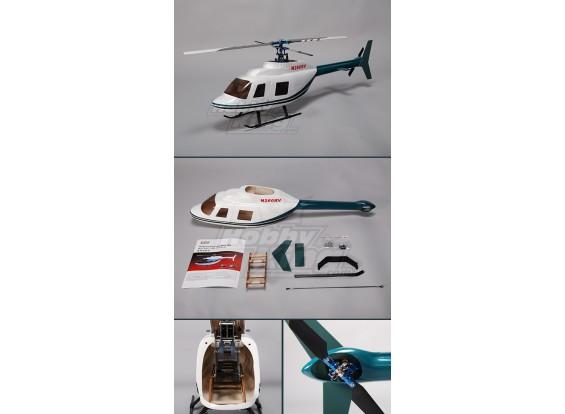 Bell 206 in fibra di vetro fusoliera per 450 dimensioni Heli