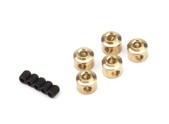 2,5 millimetri ruota metallo Collari (rame) 5pcs / bag