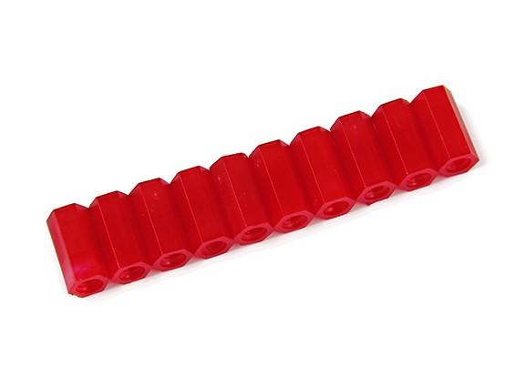 12 millimetri F / F M3 Spacer x10 - Red
