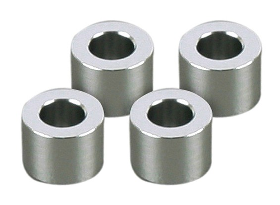 3x5.5x4mm Alu spessori (4 pezzi)