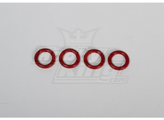 Fluoro O-ring per RJX90 / Hatori 90 Marmitta rossi (4 pezzi)