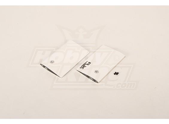 Bianco CF Paddle 85 millimetri per 50 dimensione Heli (4 mm)