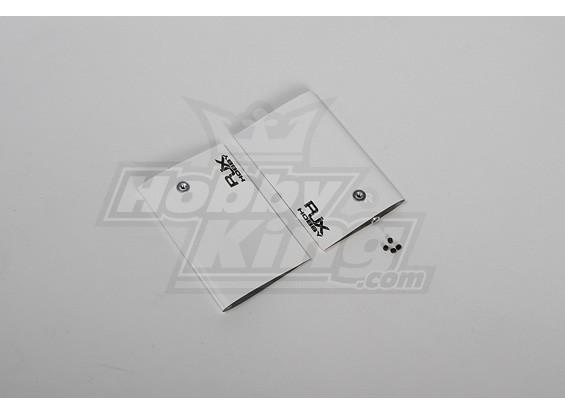 Bianco CF Paddle 95 millimetri per 90/700 dimensione Heli (4 mm)