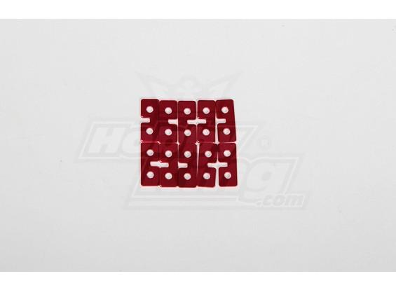 Metallo Servo Piastra (rosso) 10pcs
