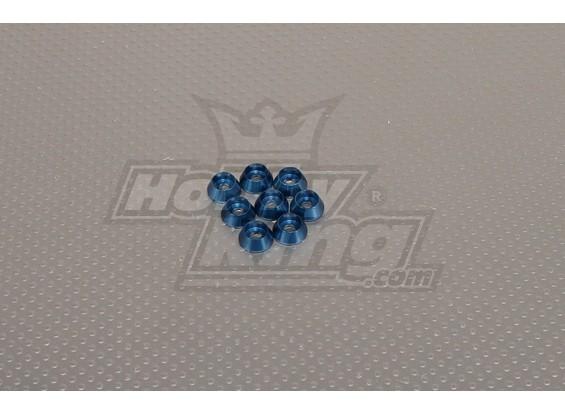 CNC Cap Bullone Rondella M4 (4,5 millimetri) blu scuro