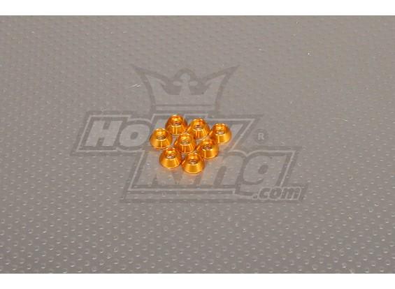 CNC Cap Bullone Rondella M3 (3,5 mm) in oro