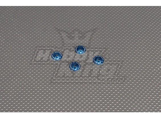 CNC flangiato Washer 3.0 (M3, # 4 40) Blu