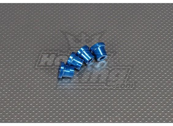 CNC pollici Standoff 15 millimetri (M6,1 / 4 20) Blu