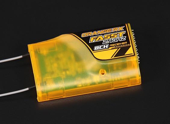OrangeRx Futaba FASST Compatibile 8Ch 2.4Ghz Receiver (caso arancione - basso)