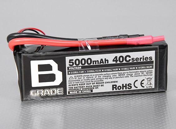 B-Grade 5000mAh 3S 40C Lipoly Batteria