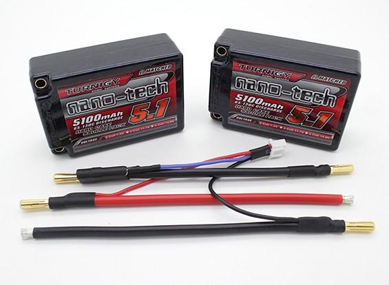 Turnigy nano-tech 5100mAh 2S3P 65 ~ 135C Hardcase basto