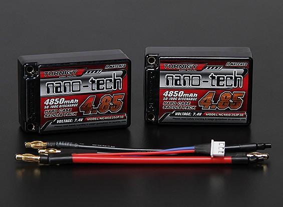 Turnigy nano-tech 4850mah 2S3P 50 ~ 100C Hardcase Lipo Saddle Pack (ROAR APPROVATO)