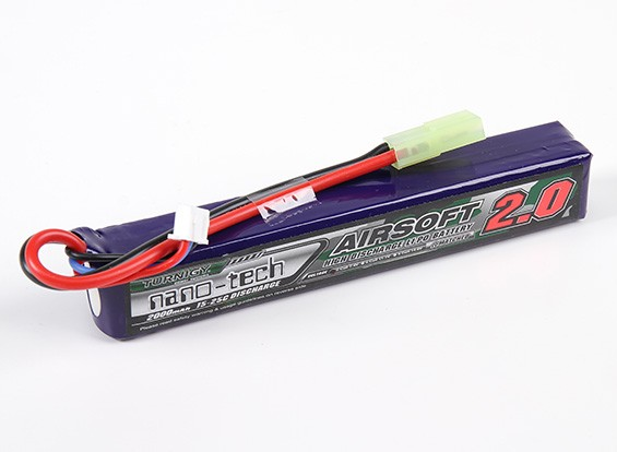 Turnigy nano-tech 2000mah 2S 15 ~ 25C Lipo AIRSOFT Confezione