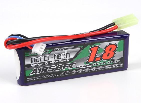 Turnigy nano-tech 1800mah 2S 25 ~ 50C Lipo AIRSOFT Confezione