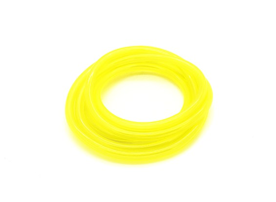 tubo del carburante Silicon (1 mtr) giallo per Gas / Glow Motori 4.8x2.5mm