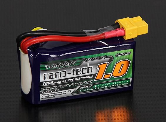 Turnigy nano-tech 1000mAh 4S 45 ~ 90C Lipo Confezione