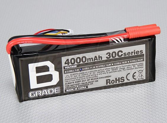 B-Grade 4000mAh 3S 30C Lipoly Batteria