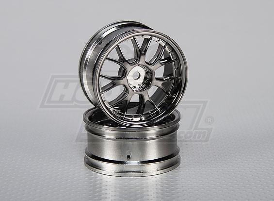 Impostare 01:10 ruota Scala (2 pezzi) Split 7 razze 26 millimetri RC Auto