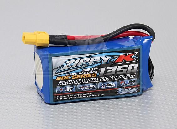 Zippy-K Flightmax 1350mah 5S1P 20C Lipoly Batteria