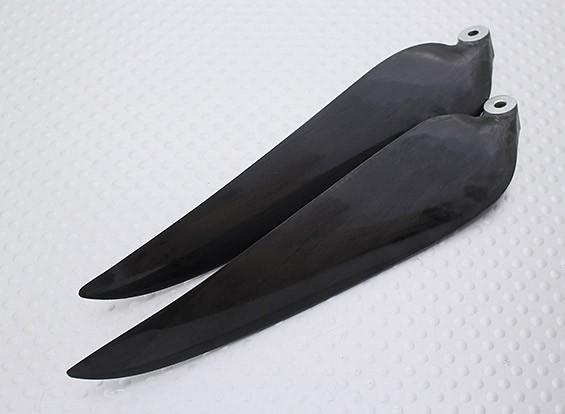 Pieghevole carbonio Infuso Elica 11x8 nero (CCW) (1pc)